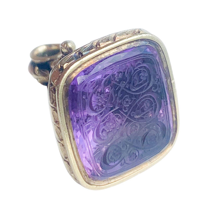 Victorian 18ct Gold Seal with Amethyst Base