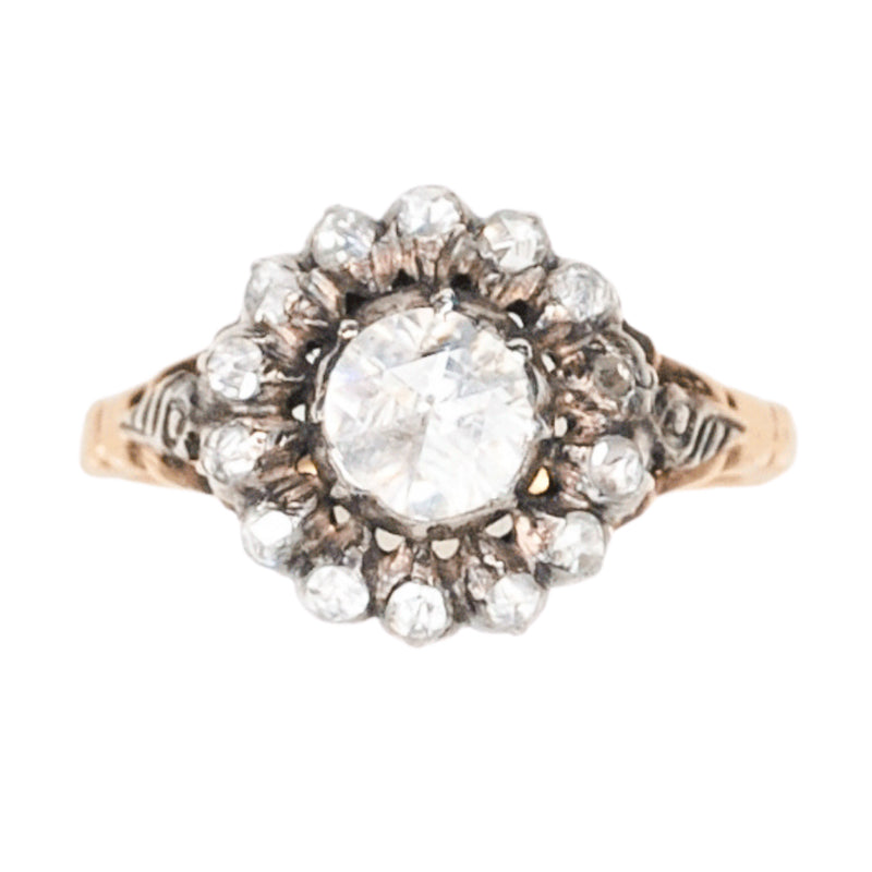 1860 Dutch Rose Diamond Ring