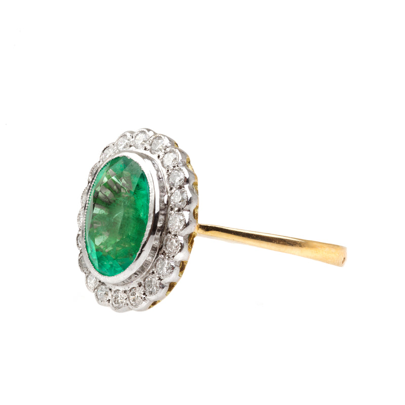 1930s Emerald and Diamond Ring