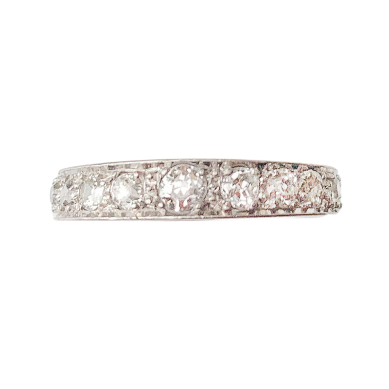 Art Deco Diamond Platinum Eternity Ring c.1930s