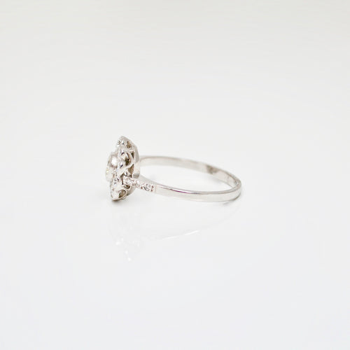 Edwardian Diamond ring with milgrain setting c.1910 - SOLD