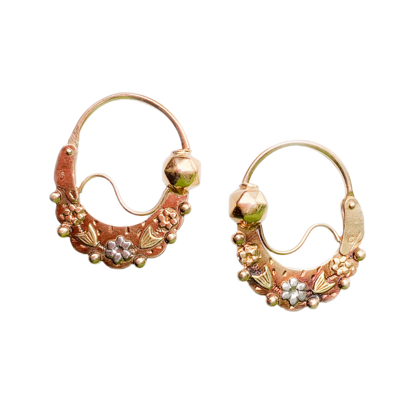 A pair of Dormeuses Poissardes Earrings