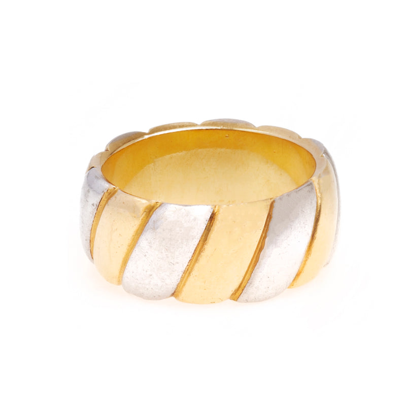 A 1940s French Gold and Platinum Ring