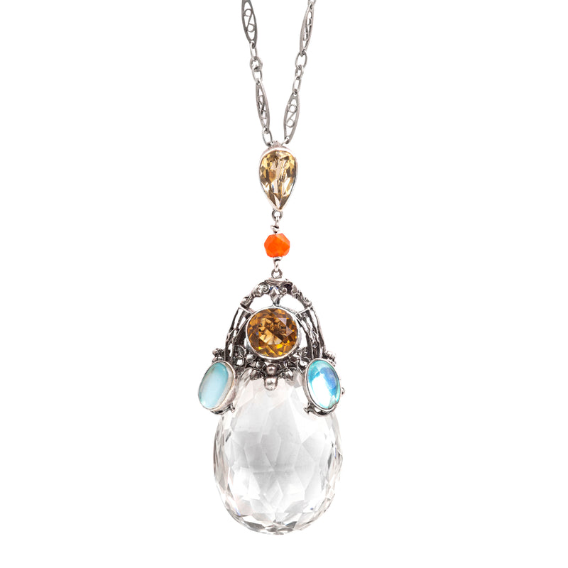 An Arts and Crafts Rock Crystal Pendant by Amy Sandheim