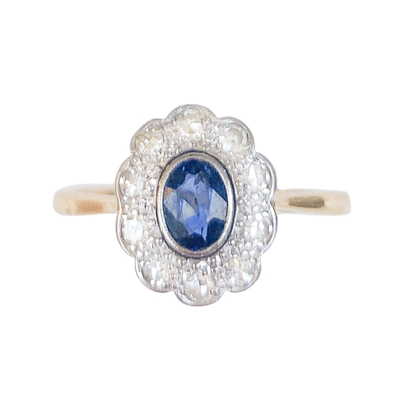 A 1910 Sapphire and Diamond ring
