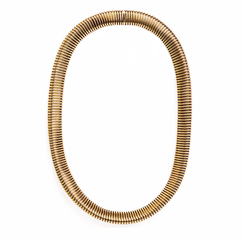 A French 1940s Gold Tubogas Choker
