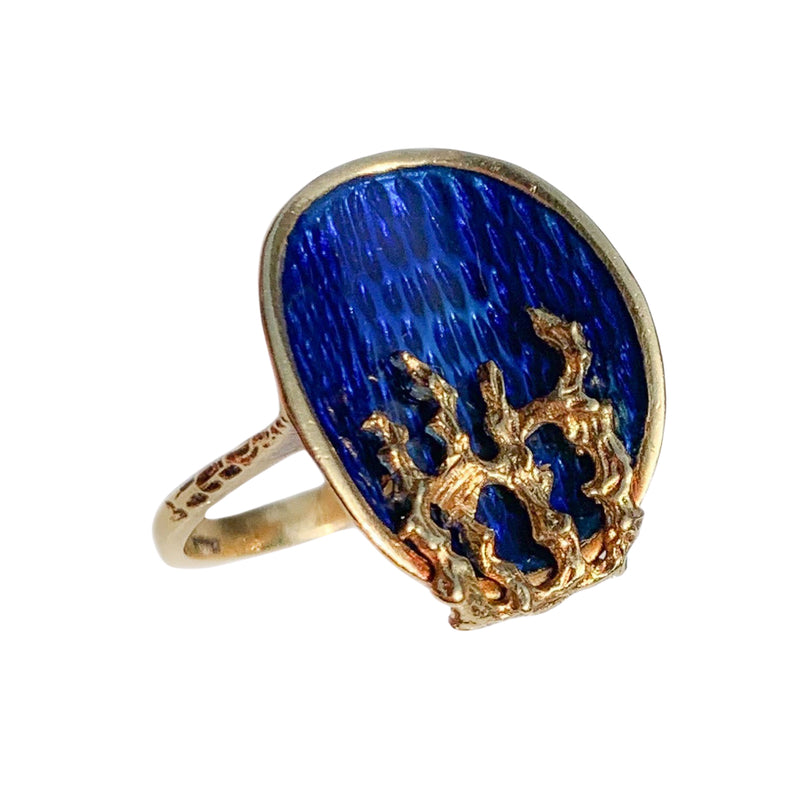 An Italian 1960s Gold Fire and Ice Ring