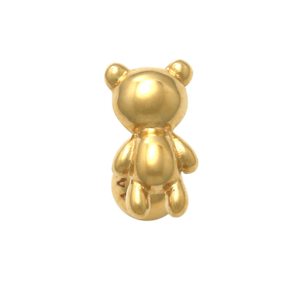 14K Solid Gold Teddy Bear Tragus Ear Stud Piercing