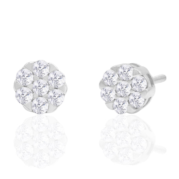 14K Solid Gold 0.33ctw Diamond Stud Earrings