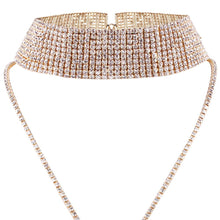 HOT Celeb Glam Pave Crystal Choker Long Y Necklace Gold or Silver