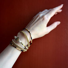 Layered Gold Leather Leopard Crystal Chain Magnetic Bracelet