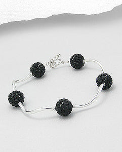 Sterling Silver 925 Hand Crafted Bracelet 4 COLOURS
