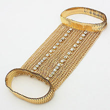 HOT Celeb Statement Gold Upper Arm Chain Bracelet