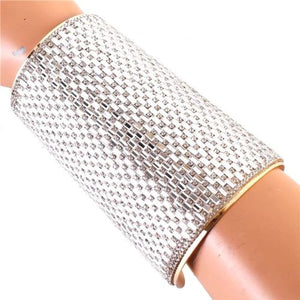 Statement Celeb Big Crystal Cuff Bangle
