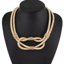 Statement Gold Metallic Cord Magnetic Fastening Collar Necklace