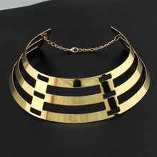CATWALK Celeb Statement Gold Oversized Cuff Choker Necklace