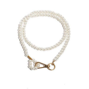 CLASSY Gold Handmade Layered Cream/White Pearl Choker Necklace