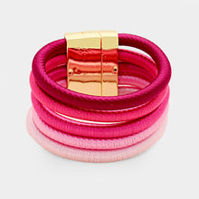 "RARE Statement Gold ""The Pinks"" Metallic Magnetic Bracelet"