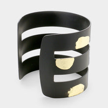 Statement  Gold Dipped Black Cuff Bangle