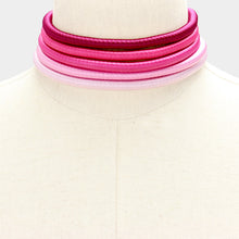 "RARE Statement Gold ""The Pinks"" 5 Layer Metallic Choker Necklace"