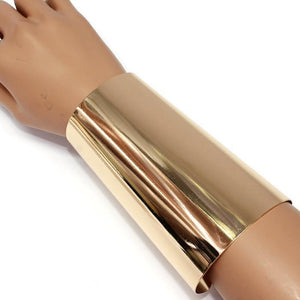 OVER SIZED Long Gold Cuff Bangle