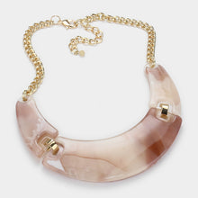 Celluloid Gold Natural Shades Short Collar Necklace Set
