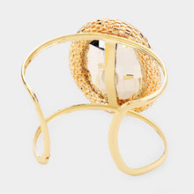 UNIQUE Statement Celeb Gold Vitrail Cuff Bangle