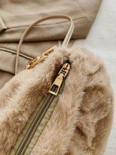 FAUX FUR CAPPUCCINO Big Chain Handle Medium Bag Sienna Handbag