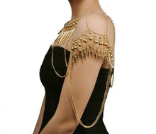 Statement Gold Spikes Shoulder Body Chain Necklace