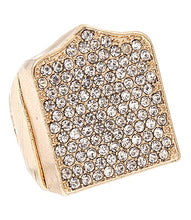 Big 1 inch Pave Crystal Stretch Ring