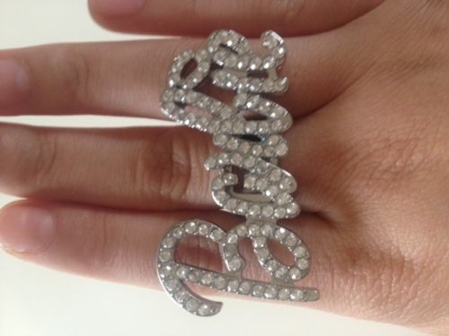 Statement Silver Clear Crystal Barbie Ring