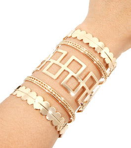 Statement Gold Intricate Design Cuff Bracelet