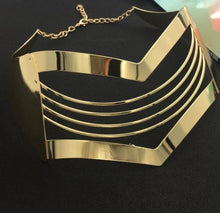 CATWALK Celeb Statement Gold Oversized Mask Choker Necklace