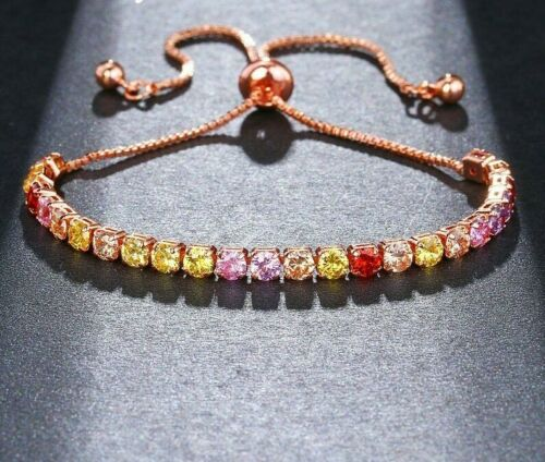 UNDERSTATED Tiny Gold Multi CZ Adjustable Slider Cinch Bracelet