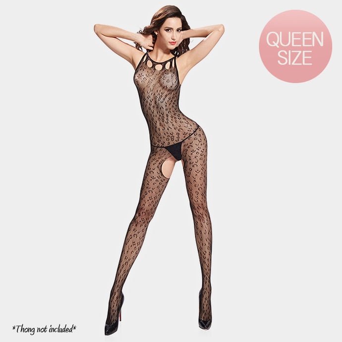 Premium Quality Black leopard Print Bodystocking