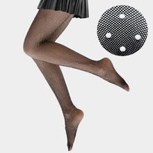 Premium Quality Pearl Embellished Fishnet Pantyhose Tights