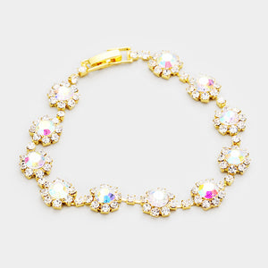 LA Collection Classy Statement AB Crystal Cocktail Bracelet