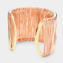 Statement Celeb Wired Rose Gold Cuff  Bracelet