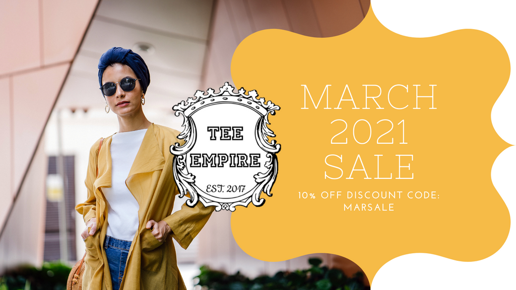 ⚠️ Don't miss out our March 2021 Sale!
