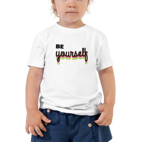 Be Yourself Toddler Short Sleeve Tee by TEE Empire