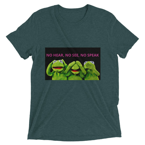 No Hear, No See, No Speak Short sleeve t-shirt