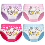 4 Pcs/Lot Baby Girls Panties Cute Cat Cartoon Briefs Stretch Breathable Panties For Girl Kids High Quality Cotton Soft Underwear