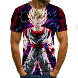 Summer New Dragon Ball Z 3D T Shirts Boy Tops Tees Unisex Short Sleeve Casual Japanese Anime T Shirts Plus Size XXS-6XL