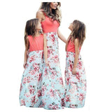 Mother Daughter Dresses Outfits Sleeveless Long Dress Mom And Daughter Dress Girls Mother And Me Dress Matching Family Clothes