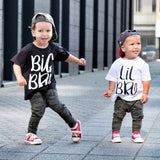 Big Brother Little Brother T Shirt Sibling Short Sleeve Tees Clothes Kids Baby Boys Letter Printed Fashion Brothers T-shirt Tops