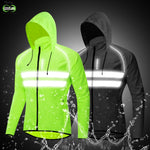 WOSAWE Windproof Cycling Jackets Hooded Men Riding Waterproof Cycle Clothing Bike Long Sleeve Jerseys Reflective Vest Wind Coat