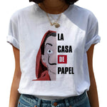 New Money Heist Harajuku T Shirts Women La Casa De Papel Hip Hop T-shirts Fashion House of Paper Tshirt Fashion Top Tees Female