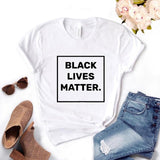 Black Lives Matter square Women Tshirts Cotton Casual Funny t Shirt For Lady  Top Tee Hipster 6 Color