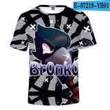New children's novelty children's T-shirt 3D fight star Leon