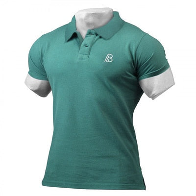 Man Polo Shirt Brand Mens Casual Deer Embroidery Polo shirt Men Short Sleeve High Quantity Polo Men